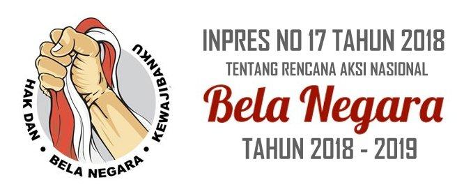 Presiden Jokowi Tanda Tangani Inpres Rencana Aksi Nasional Bela Negara Tahun 2018-2019